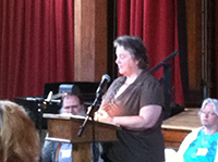 Maggie Edmondson, Bible study at Summer Sessions 2014