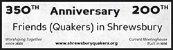 Quakers in Shrewsbury: 350 years, 200 years