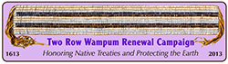 Logo of the Two Row Wampum Renewal Campaign
