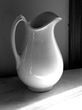 Pitcher on shelf